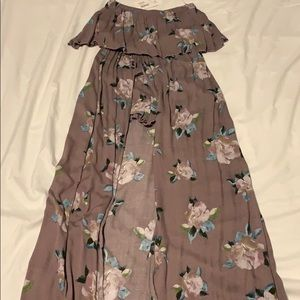 lilyful sleeveless maxi dress with shorts